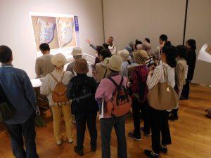 まずは展示室で江戸時代の周辺絵図を説明。